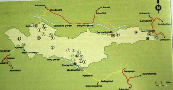 Sinharaja forest trail map